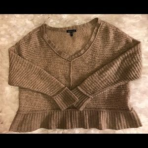 Eileen Fisher Beige Knit Sweater Yak/ Wool Size XL